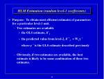 hlm estimation random level 1 coefficients