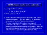 hlm estimation random level 1 coefficients45