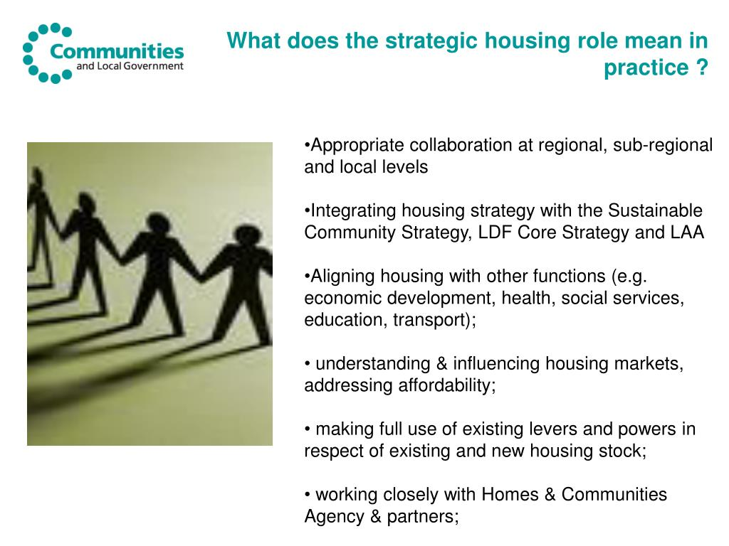 What does the strategic housing role mean in practice ?