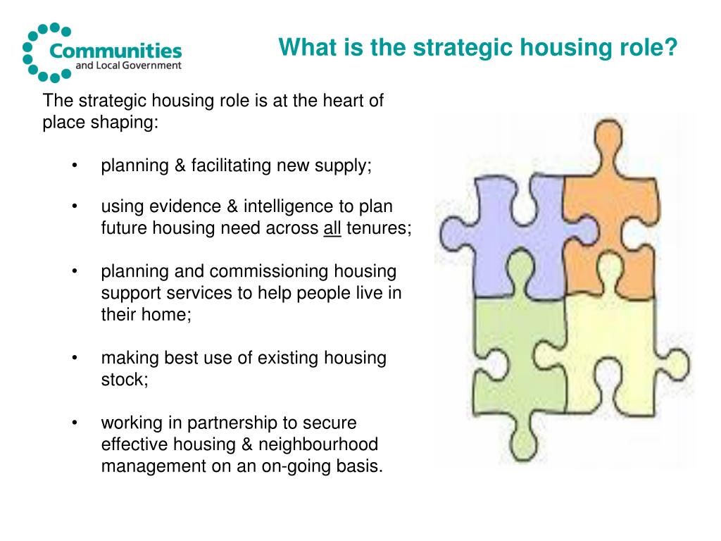 What is the strategic housing role?