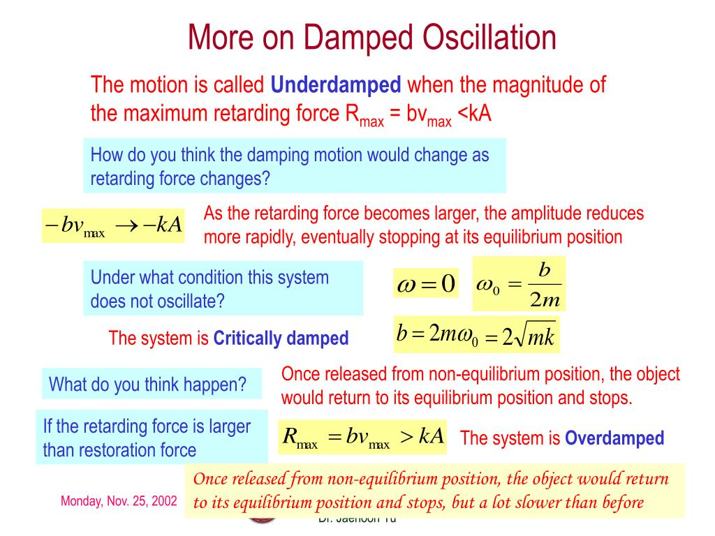 More on Damped Oscillation