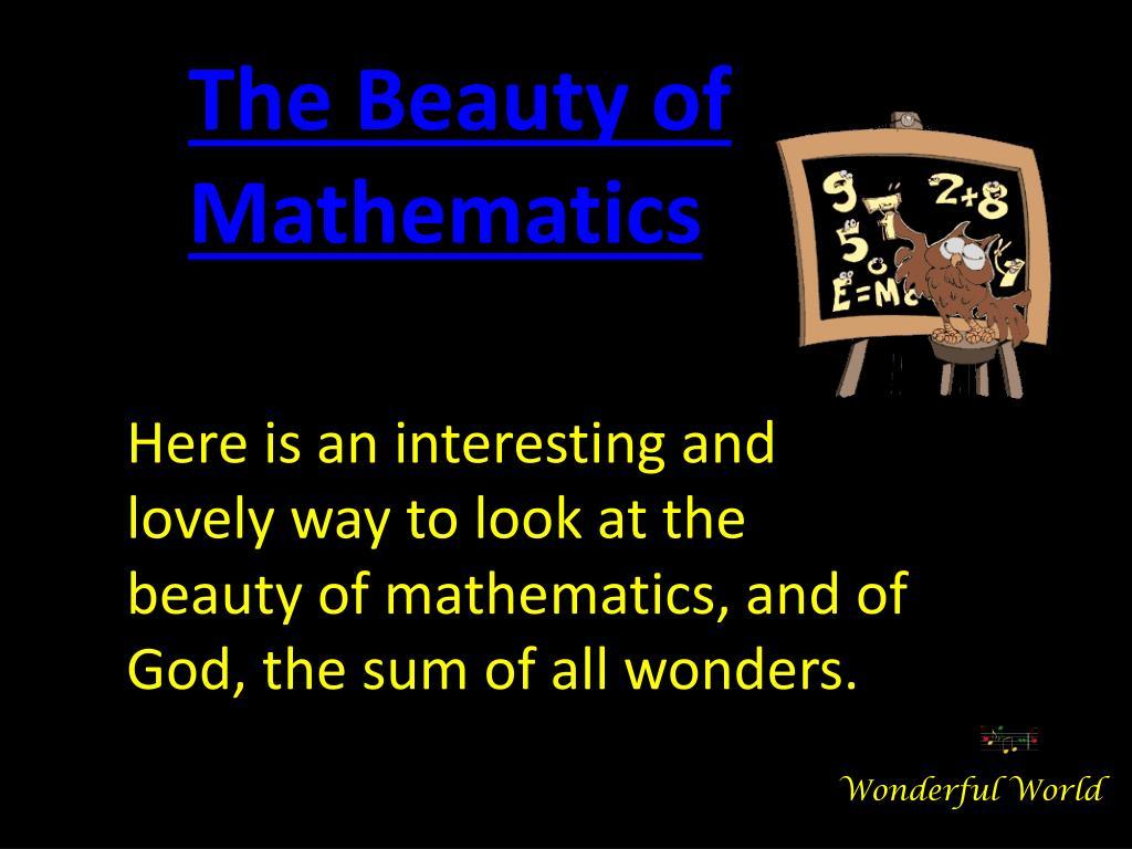 The Beauty of Mathematics