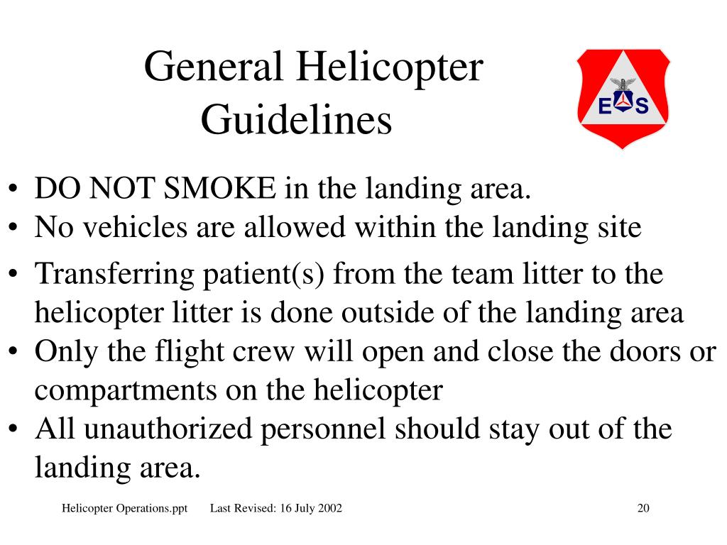 General Helicopter Guidelines