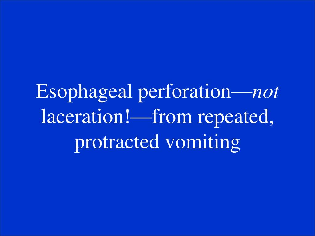 Esophageal perforation—