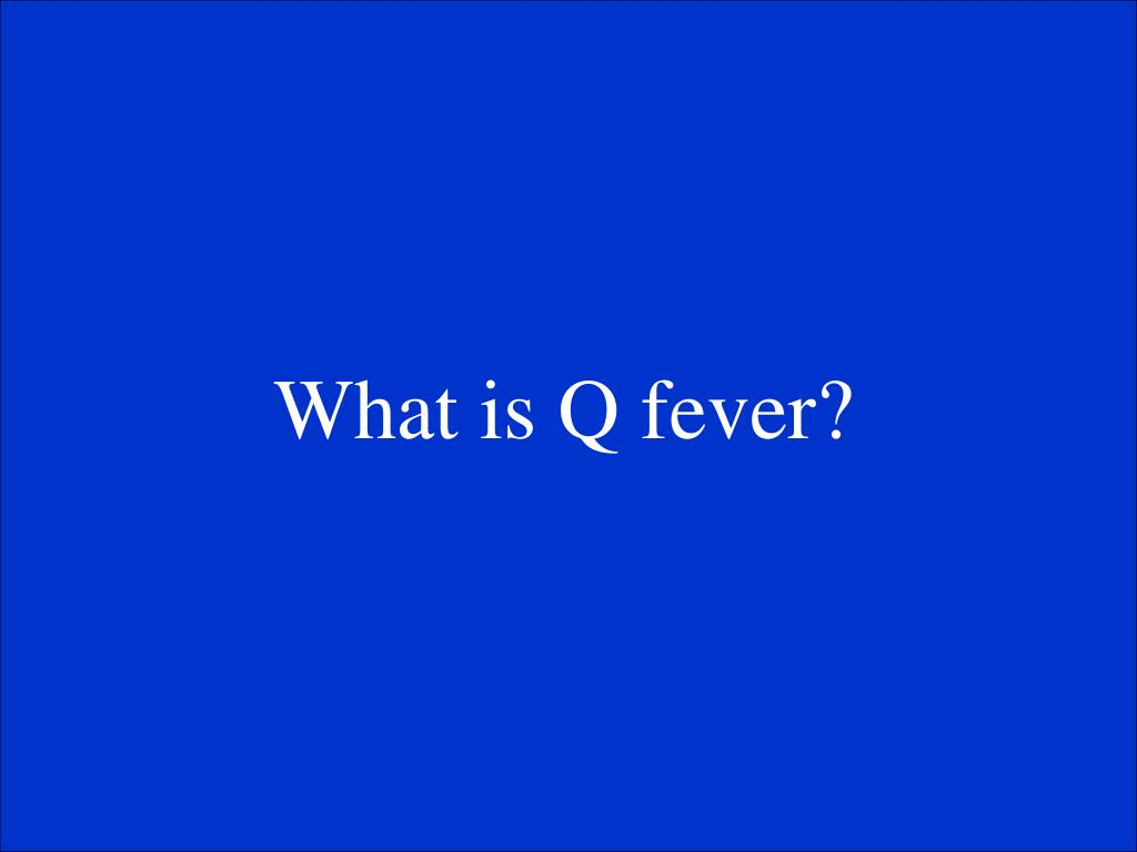 What is Q fever?