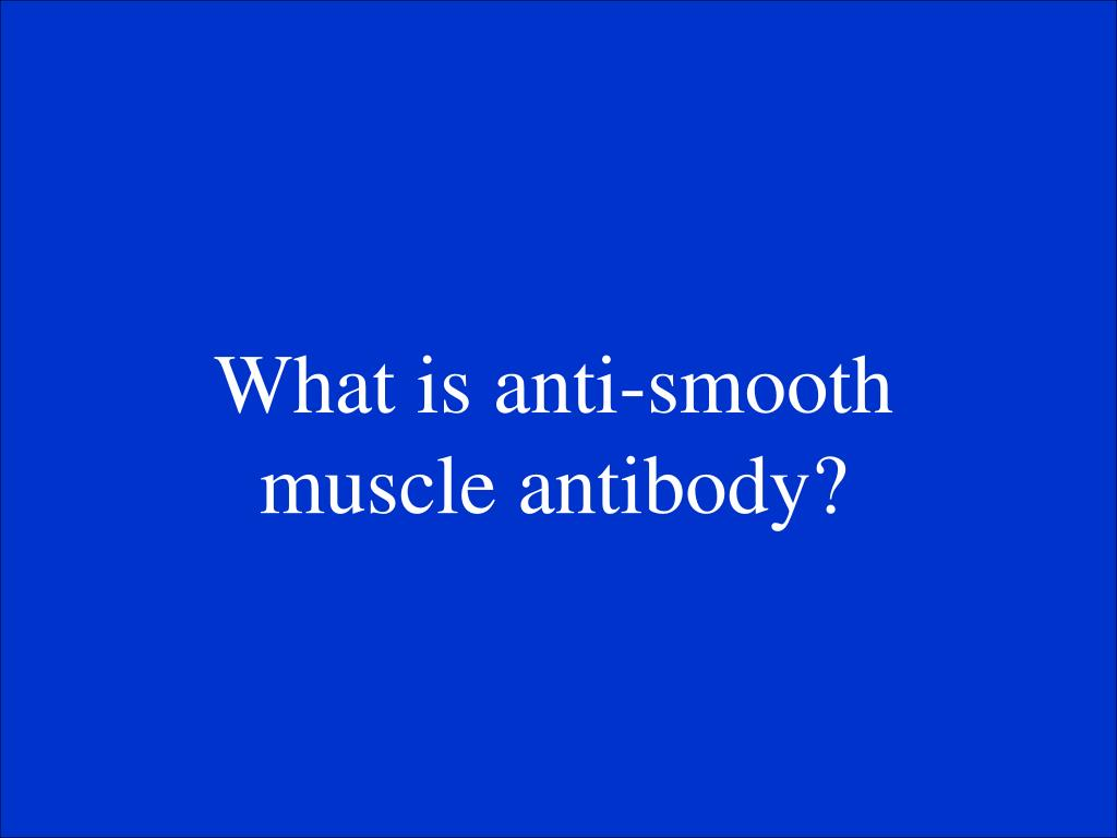 What is anti-smooth muscle antibody?