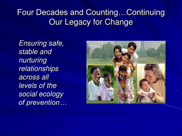 Four decades and counting continuing our legacy for change