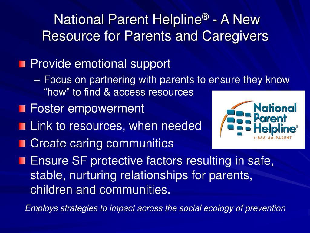 National Parent Helpline
