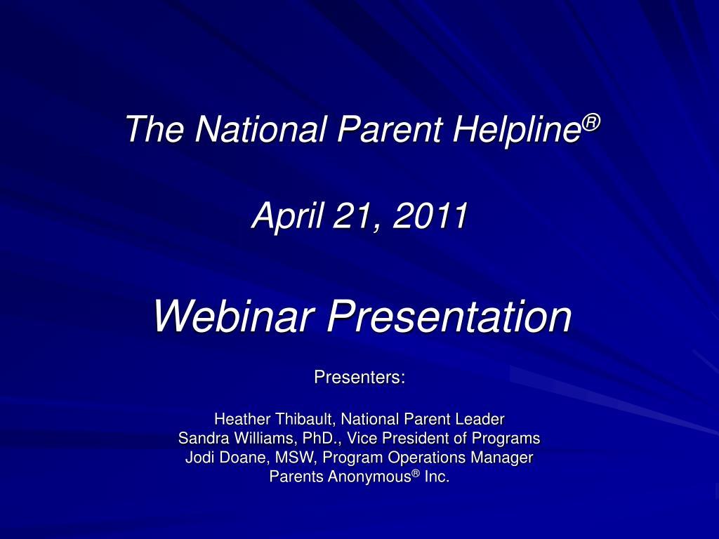 The National Parent Helpline