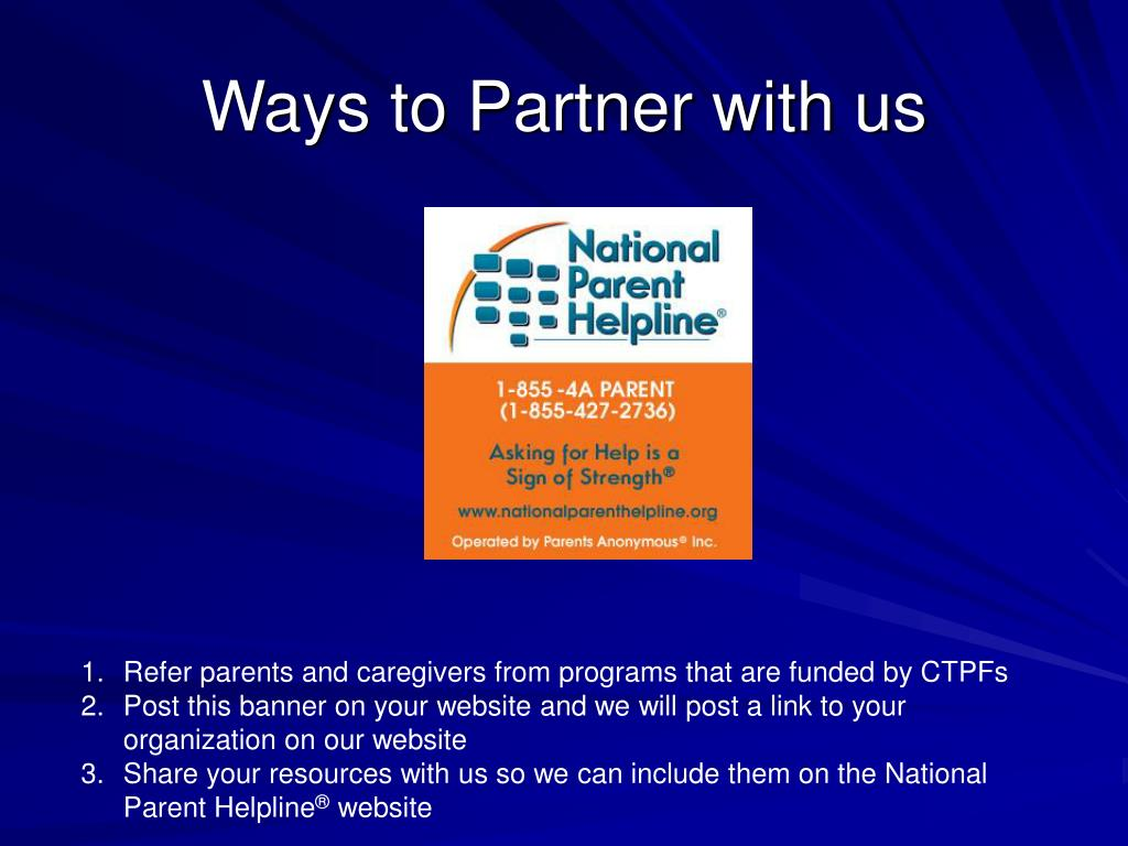 Ways to Partner with us