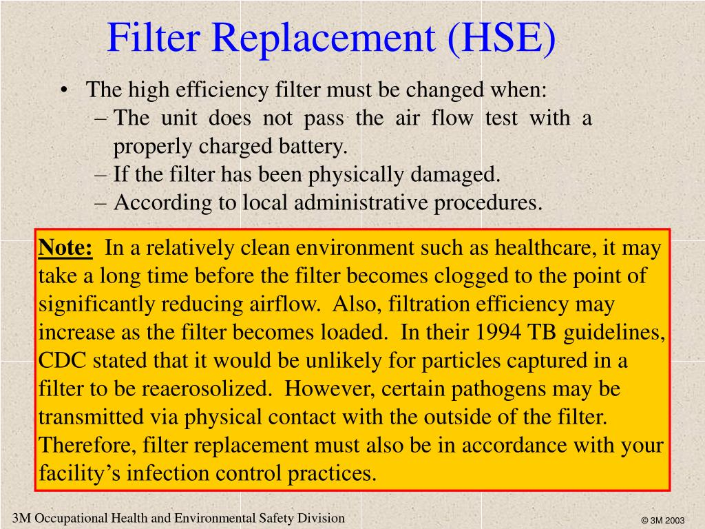 Filter Replacement (HSE)
