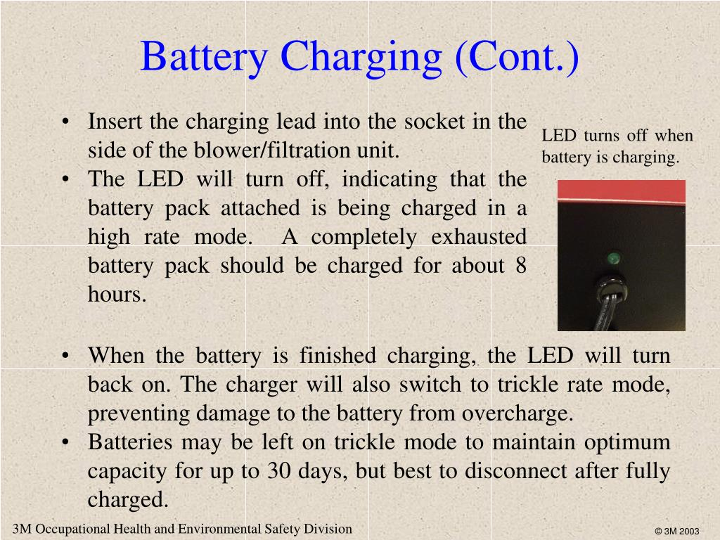 Battery Charging (Cont.)