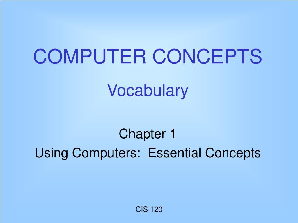 computer concepts vocabulary l.