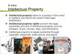at stake intellectual property