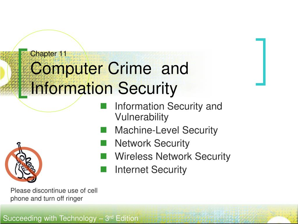 chapter 11 computer crime and information security l.