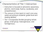 characteristics of tier 1 instruction