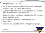 components of tier 2