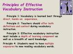 principles of effective vocabulary instruction