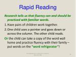 rapid reading