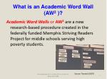 what is an academic word wall aw 2