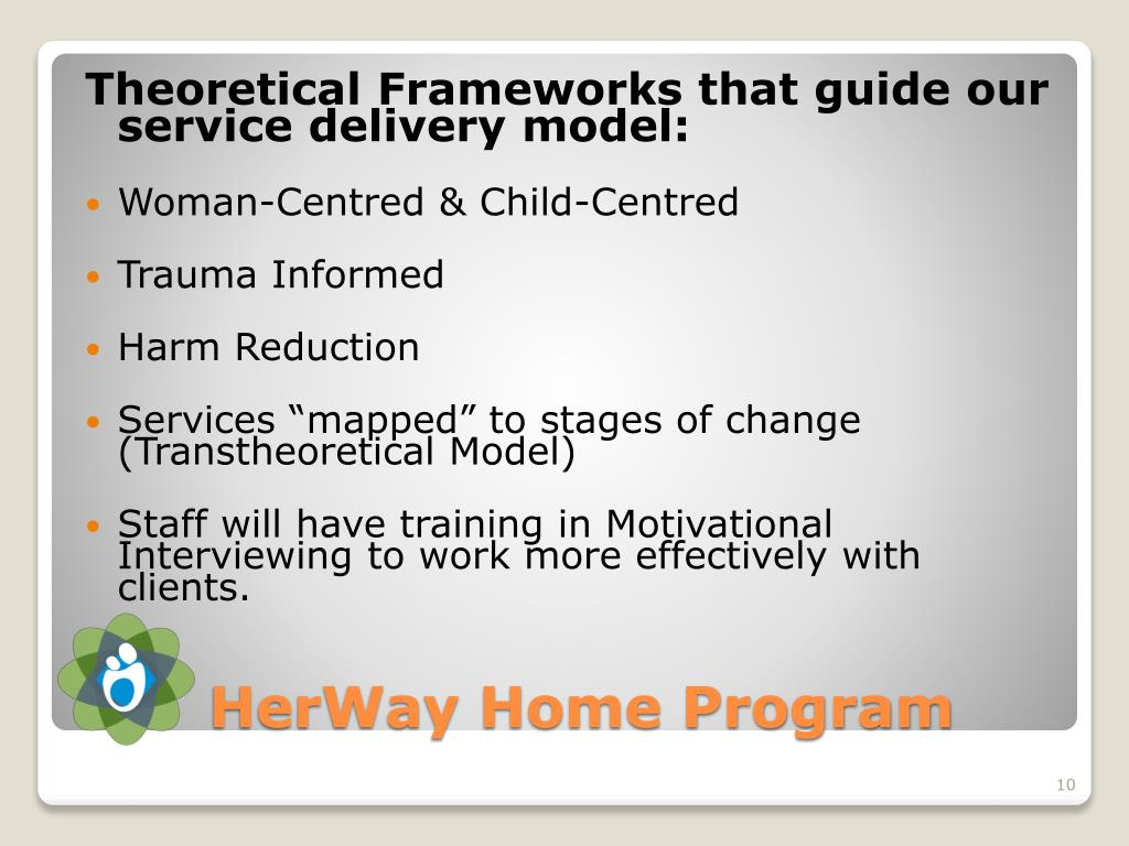 Theoretical Frameworks that guide our service delivery model: