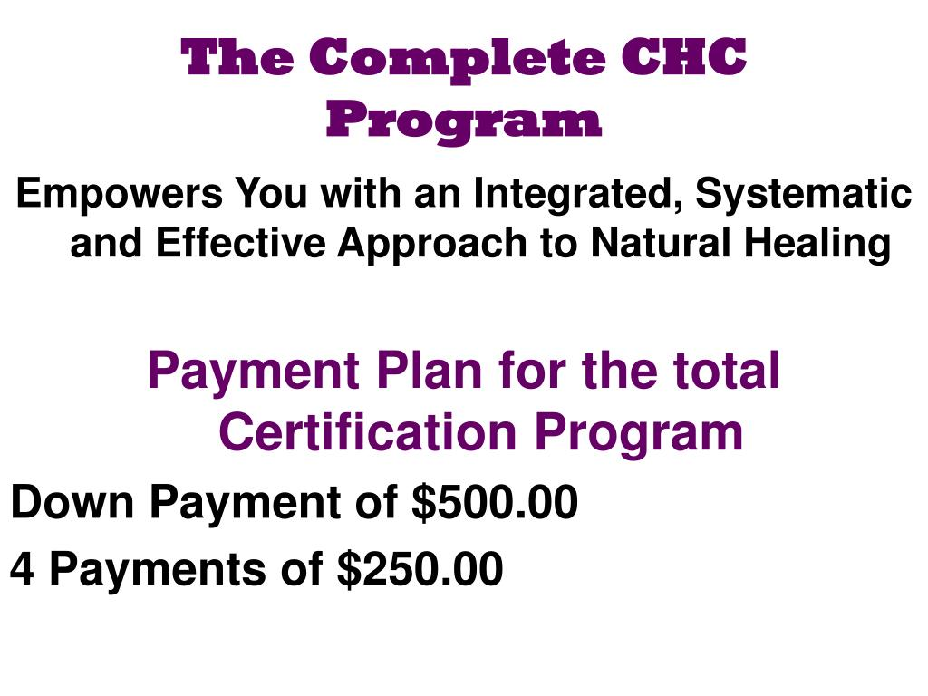 Ppt certified herbal consultant chc powerpoint presentation the complete chc program xflitez Image collections
