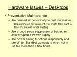 hardware issues desktops4