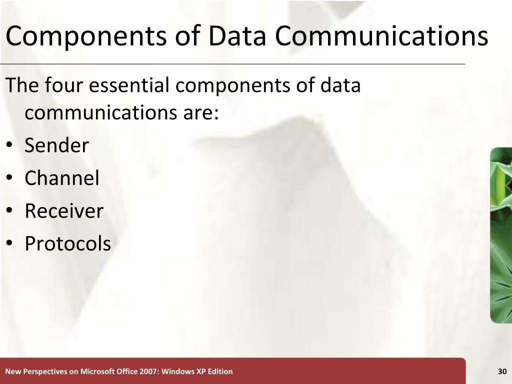 Components of Data Communications