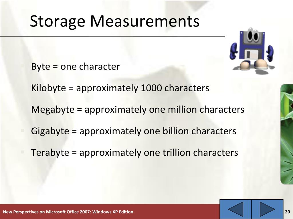 Storage Measurements