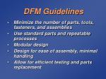 dfm guidelines