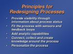 principles for redesigning processes59