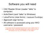 software you will need