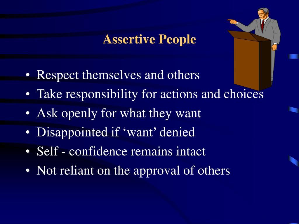 Assertive People