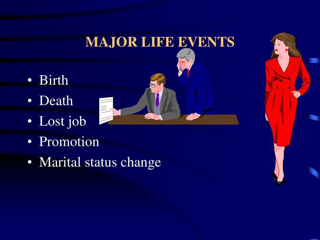 MAJOR LIFE EVENTS