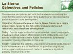 la sierra objectives and policies