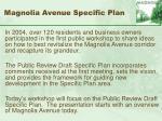 magnolia avenue specific plan