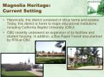 magnolia heritage current setting