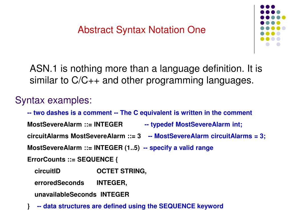 Abstract Syntax Notation One