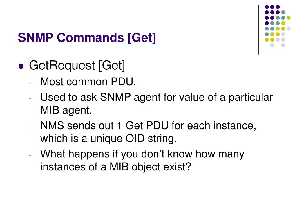 SNMP Commands [Get]