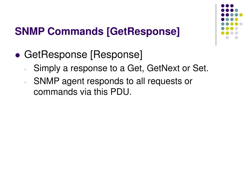 SNMP Commands [GetResponse]