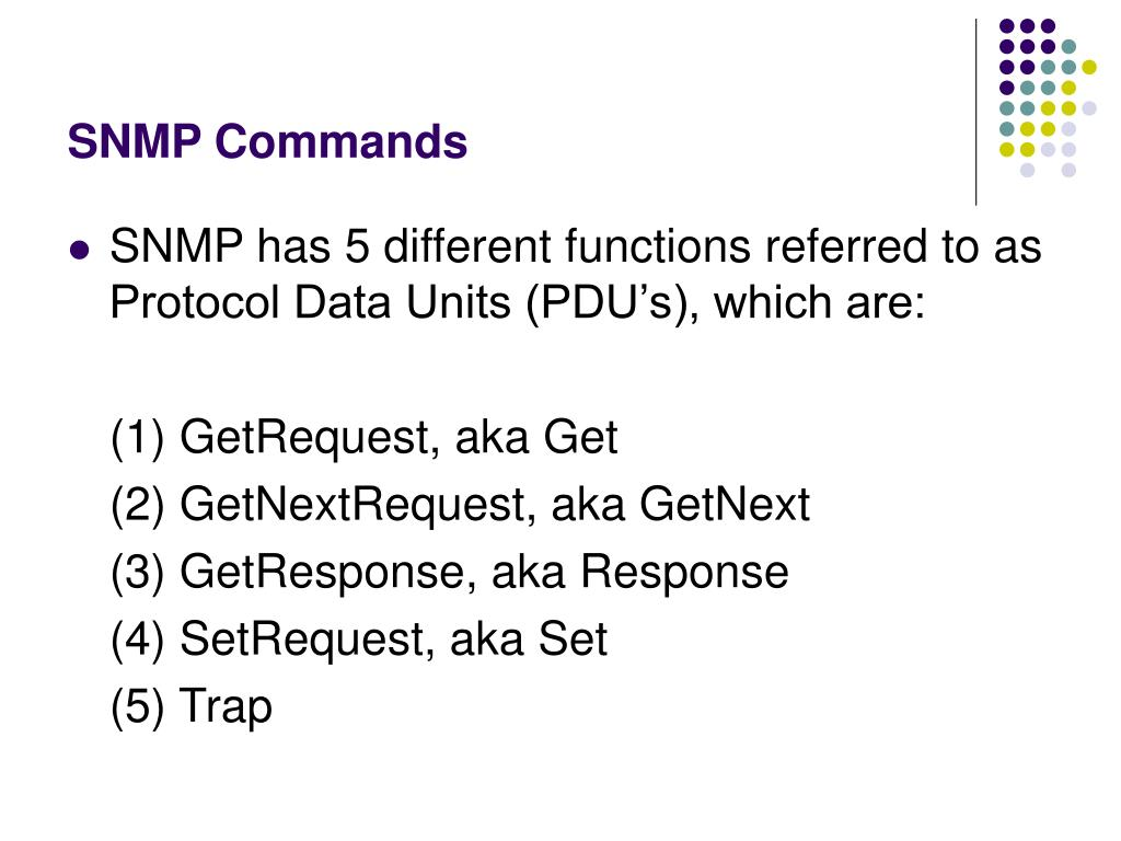 SNMP Commands