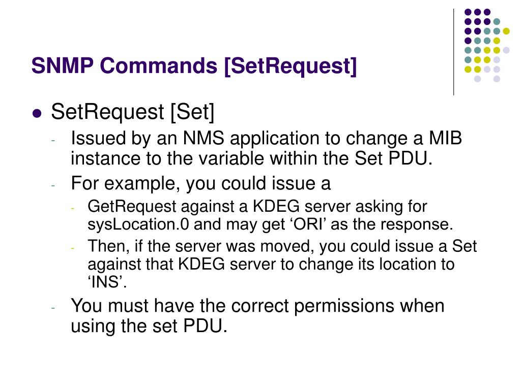 SNMP Commands [SetRequest]