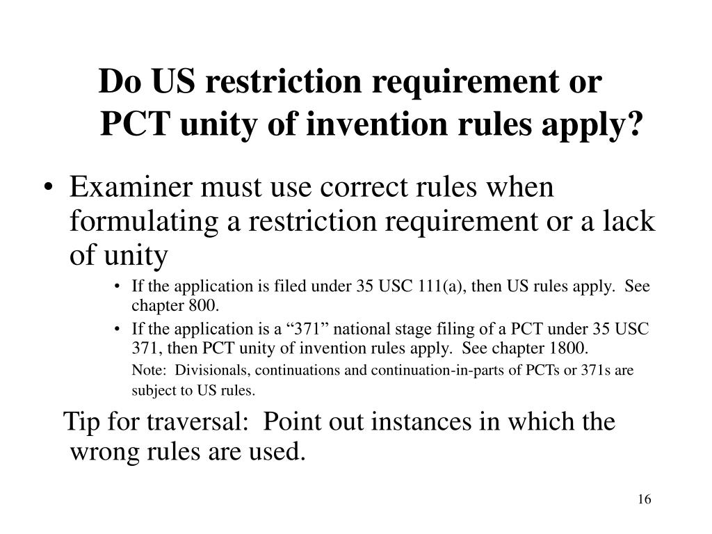 Do US restriction requirement or