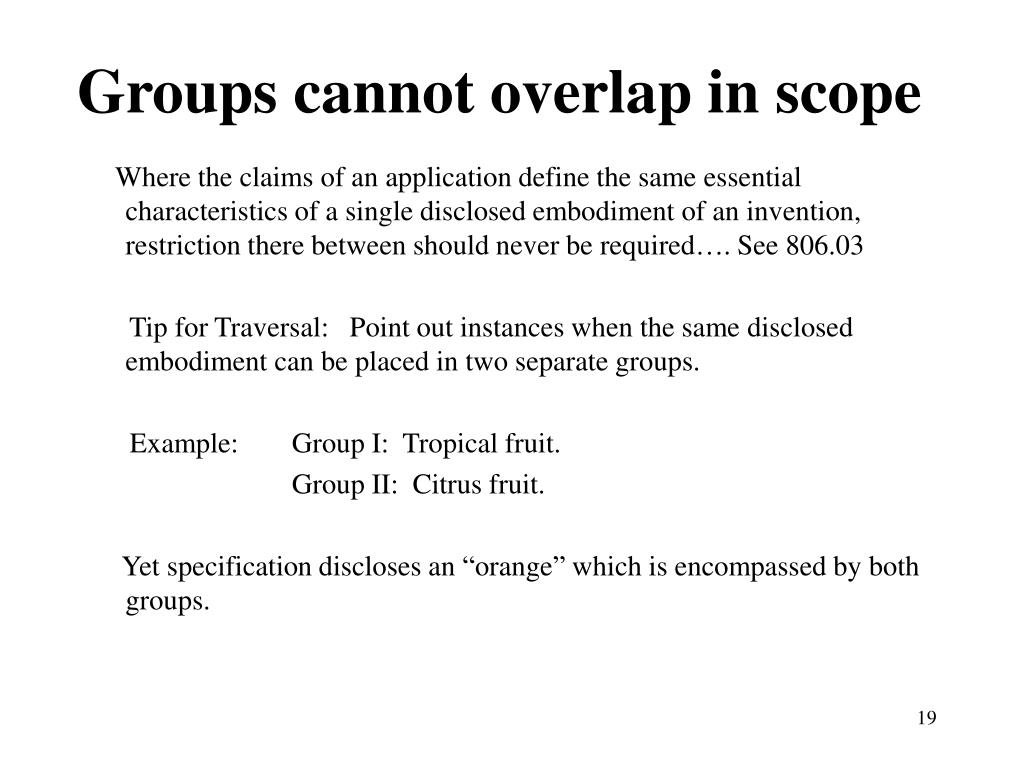 Groups cannot overlap in scope