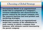 choosing a global strategy