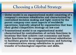 choosing a global strategy23