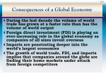 consequences of a global economy