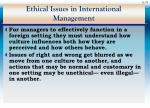 ethical issues in international management