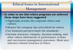 ethical issues in international management36