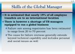 skills of the global manager
